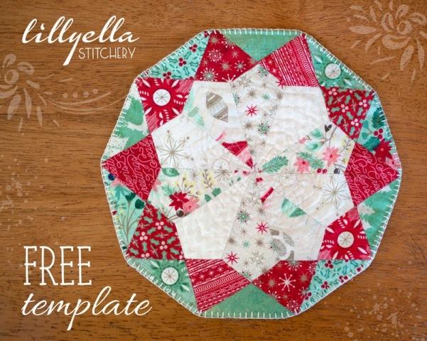 Free EPP Table Topper Template | lillyella stitchery