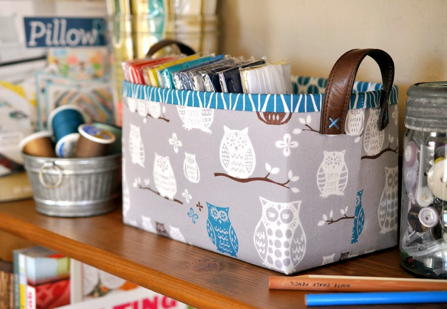 Sturdy Fabric Basket Tutorial Lillyella