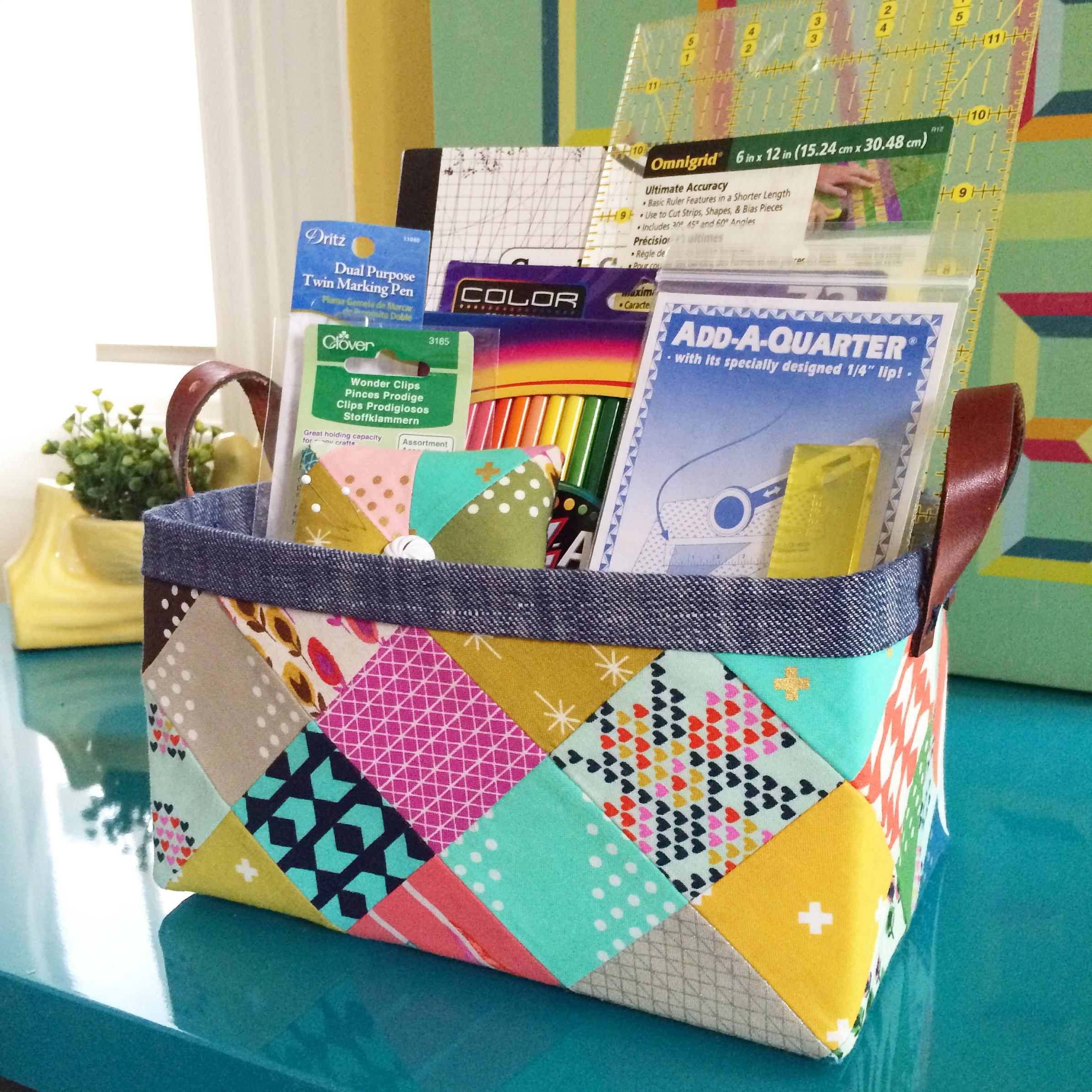 Sturdy Fabric Basket Tutorial – lillyella : quilted basket pattern - Adamdwight.com