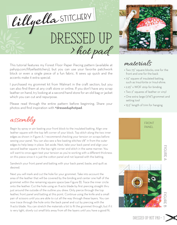 Dressed Up Hot Pad Tutorial | lillyella stitchery