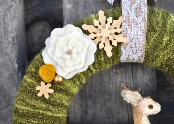yarn wrapped wreath | lillyella stitchery
