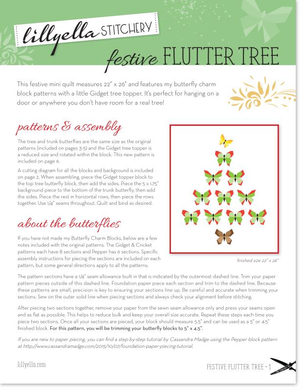 Festive Flutter Tree Pattern | lillyella stitchery