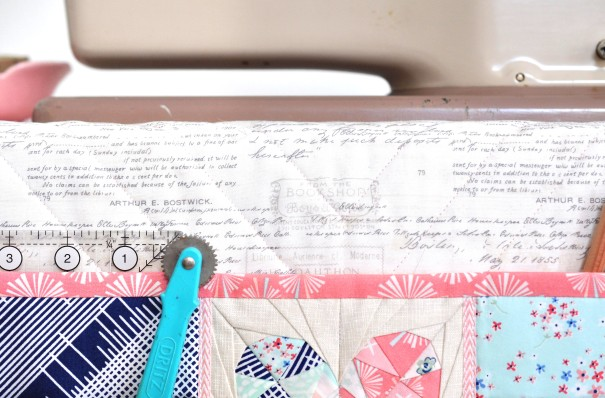 Undercover Maker Mat featuring Paperie Fabrics | lillyella stitchery